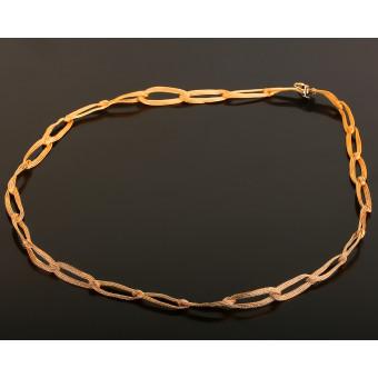 Золотая плетеная цепочка. Roberto Bravo.