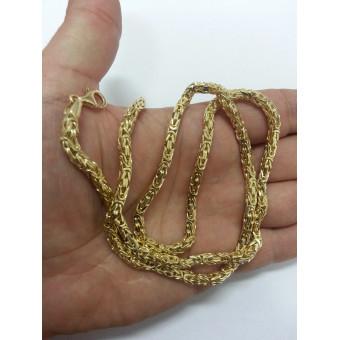 """Золотая цепь """"Барбадос"""" 63 грамм из желтого золота 585 пробы на заказ"""